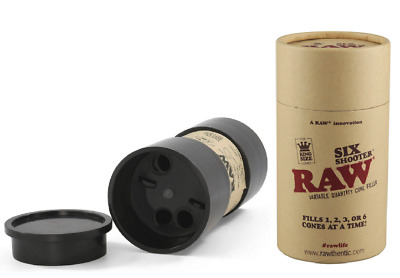 RAW Six Shooter King Size Cone Filler Tube Fills 1/2/3/6 Cones Pre-Rolled RYO