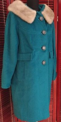 Vintage 1950s Wool Swing Coat, Size Large