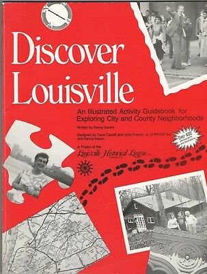 Vintage 1988 Discover Louisville An Illustrated Activity Guidebook KY Kentucky
