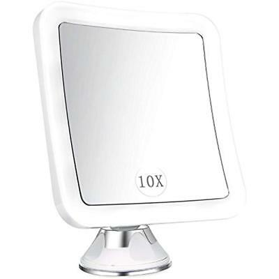 Lighted Compact & Travel Mirrors Magnifying Mirror, 10x Magnified With Light,