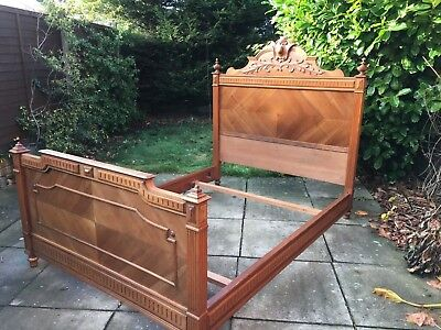 Stunning Antique French carved bed.