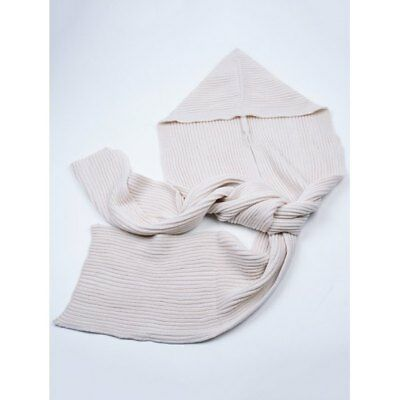 Outdoor Crochet Hooded Scarf - Off-white