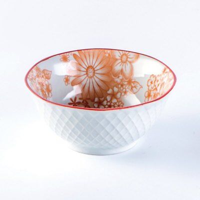 1 Piece Simple Style Ceramic Household Rice Bowl - Deep Peach 13*13*6