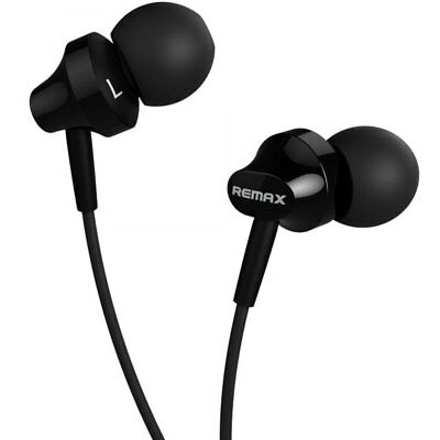 REMAX Earphone In-ear Remote Control Wired Headphones - Black