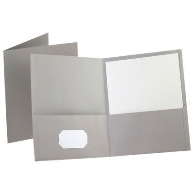 Esselte Oxford Twin Pocket Folders (ESS57505) - Letter - 25 Pack - Grey
