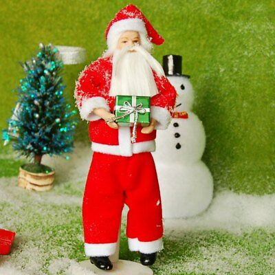 Cute Santa Claus Style Ceramic Doll Perfect Gift for Christmas -