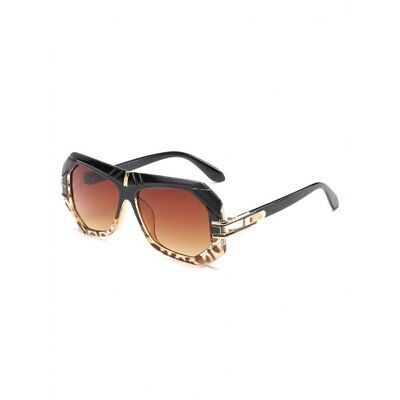 Unique Thick Irregular Frame Driving Sunglasses - Light Brown
