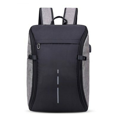 Men's USB Charging Multi-function Large Capacity Backpack - Gray