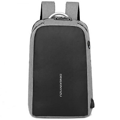 DINGXINYIZU Anti-theft USB Charging Port Multi Function Backpack - Dark Gray