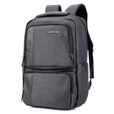 ARCTIC HUNTER B00110C Oxford Fabric Backpack - Ash Gray
