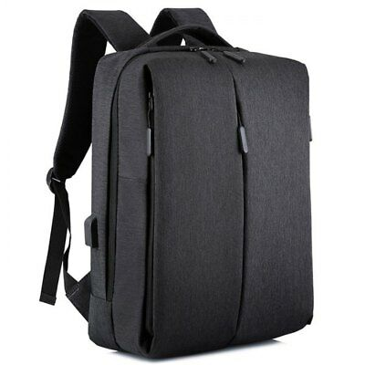 A028 Travel Business Multi-function USB Charging Port Portable Backpack - Black