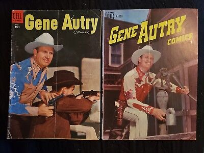 Lot Of 2 Vintage Gene Autry Comics (Dell) Western Television Series Show