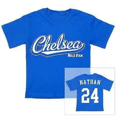 Chelsea Fußball Personalisiert Baby/Kind T-Shirt