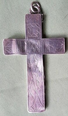 Large 17th or 18th century French Silver Cross Reliquary. M. LAVANANT