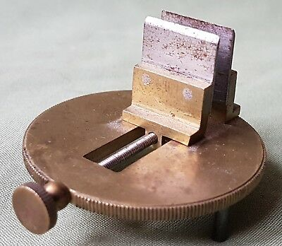 Antique Brass Engravers Vice Tool, late 19th century