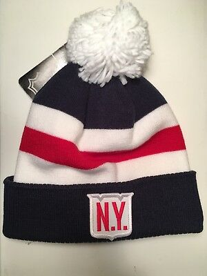 e736f4a1742e17 New York Rangers adidas 2018 Winter Classic Cuffed Pom Knit Beanie Hat - NWT