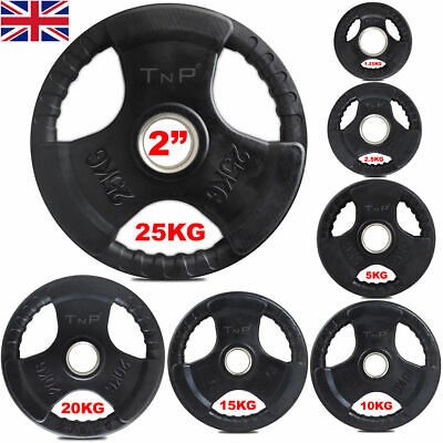 Olympic Rubber Disc Weight Plates EZ Bar Barbell Weights Plate Fitness Gym 15Kg