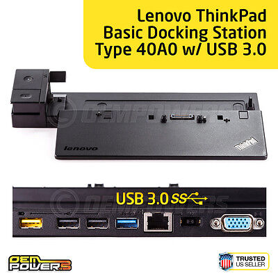 Lenovo ThinkPad Basic Dock Station 40A0 USB 3.0 T450 T460 X260 T450s T460s T540p
