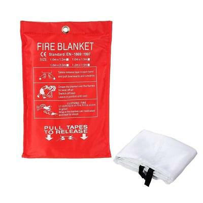 1*1M Fire Blanket Fiberglass Campers Survival 0.3mm Thickness Portable Durable
