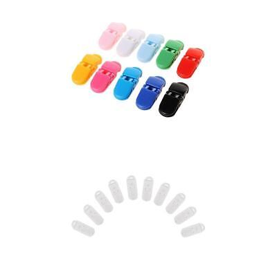 20x T-Shaped Plastic Dummy Bib Soother Pacifier Clip Badge Craft Holder Clear