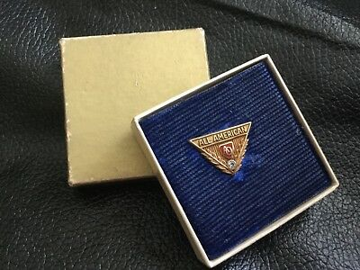 AO American Optical 14k Gold Employee Reward Lapel Pin Tie Back With Diamond