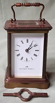 Vintage Carriage Clock by Matthew Norman. 11 Jewels