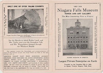 Vintage 1960's NIAGRA FALLS MUSEUM Canada Egyptian Mummy Tombs Travel Brochure