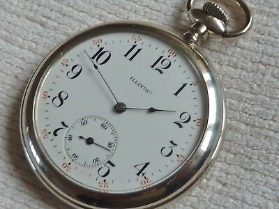 Fine Antique Gents Illinois Silveroid Open Face Pocket Watch 1912 Fully Serviced