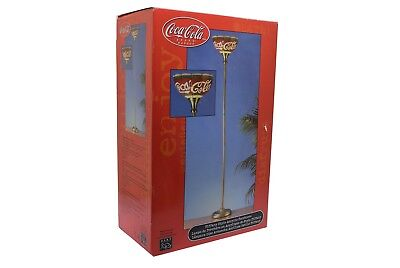 Coca Cola COKE Tiffany Style Acrylic Torchier Floor Lamp NEW