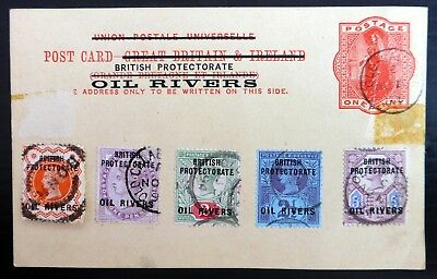 NIGERIA Oil Rivers 1d Stationery Used with Additional Used Jubilees BZ1