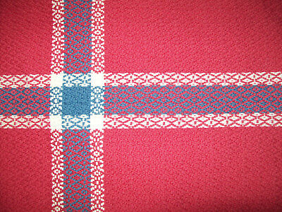 100% Cotton Hand Woven Design Norway World Flag Norwegian Pennant USA Made EUC
