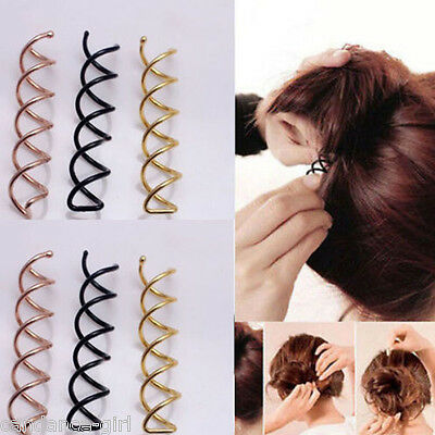 10pcs Lady's Hair Clip Hair Styling Spiral Spin Screw Bobby Pin Twist Barrette