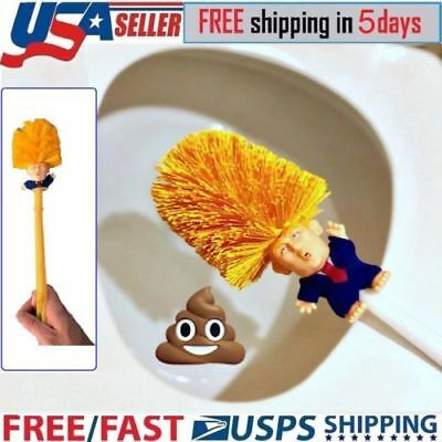 Donald Trump Toilet Bowl Brush Gag Political Christmas Home Gift Cyber Monday US
