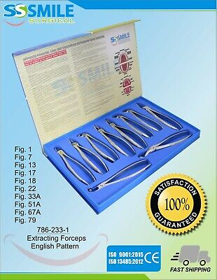 Dental Extraction Forceps Set of 10 Pieces. Premium Quality. CE Marked