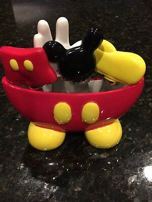 Disney Store Mickey Mouse Cheese Dip Spreaders w/ holder glove pants ears shoe
