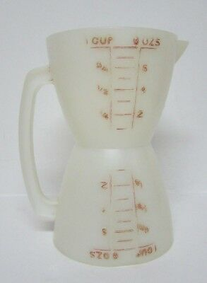 TUPPERWARE Vintage Wet  Dry Dual Double Sided Measuring Cup   #860