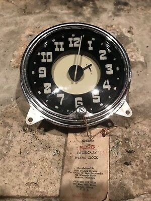 Vintage Borg  1950's Hudson Automobile Dash Clock  New Old Stock?