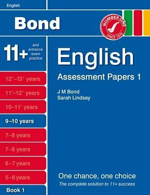 Bond Assessment Papers English 9-10 yrs Book 1 by Sarah Lindsay 1408525194