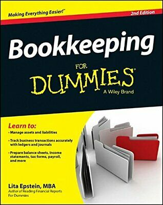 Bookkeeping For Dummies (For Dummies Series) by Epstein, Lita Book The Cheap