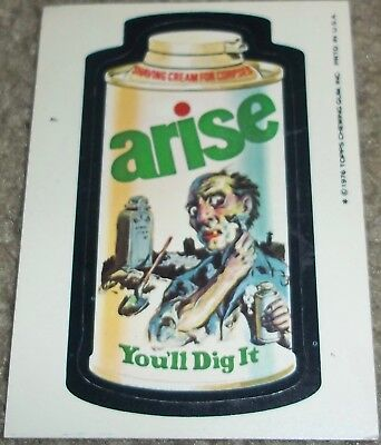 Vintage Wacky Packages 16th Series 16 Arise Topps 1976 sticker white back