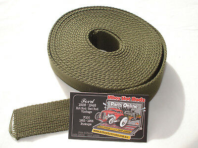 Body To Chassis Webbing - 20 Foot Roll- Hot Rod Or Original