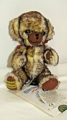Merrythought Mini Cheeky Bear Light Brown Tipped Mohair Limited Edition 314/1000