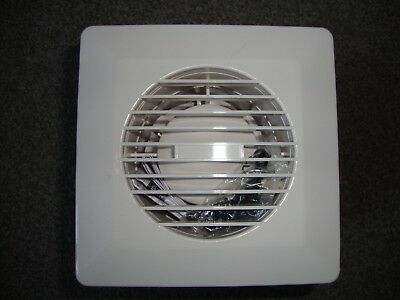 """Cyclone GFAN4H 100mm (4"""") Extractor with Humidistat in  White"""