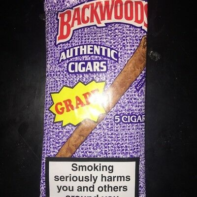 RARE Grape Backwoods| Exotic Flavor| Single Pouch of 5 | US Seller |