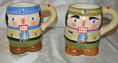 2 Cub Scout Nutcracker Christmas Holiday Mugs Boy Scout BSA Coffee Cup