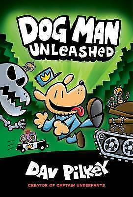 Adventures of Dog Man: Unleashed by Dav Pilkey Hardcover Book Free Shipping