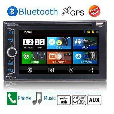 GPS Navi Double DIN 6.2 Inch Car Radio DVD CD Touch Screen In Dash Stereo No-Cam