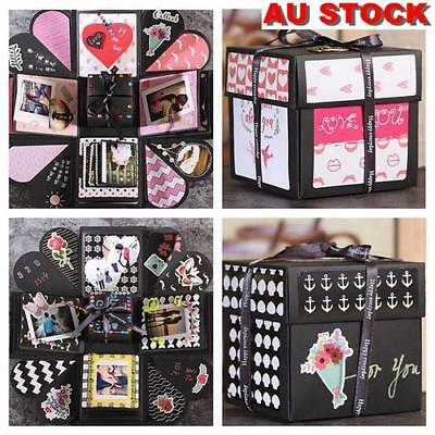 AU DIY Surprise Explosion Box Album Memory Scrapbook Photo Album Set Gift Toy