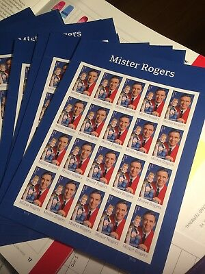 Mister Rogers Forever Stamps Pane of 20 Sheet Mr. Rogers Collect 477200