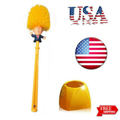 Donald Trump Toilet Bowl Brush Gag Novelty Political College Christmas Gifts